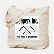 Reapers Inc. Logo and Slogan Tote Bag