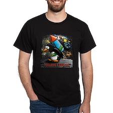flying comic rocket penguin astronaut space T-Shirt