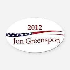 JonGreenspon.png Oval Car Magnet
