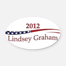 LindseyGraham.png Oval Car Magnet
