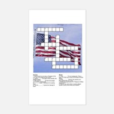 Political Puzzle on Flag Rectangle Decal