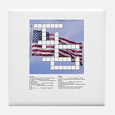 Political Puzzle on Flag Tile Coaster