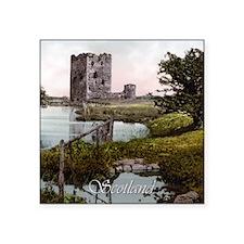 """Scotland Threave Castle Square Sticker 3"""" x 3"""""""