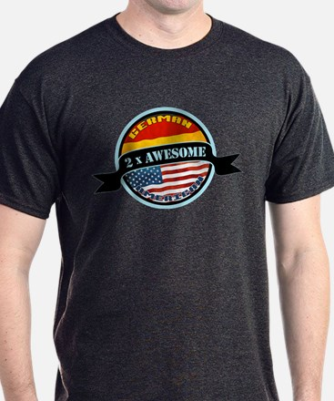 German American 2x Awesome T-Shirt