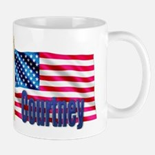 Courtney Personalized USA Flag Mug