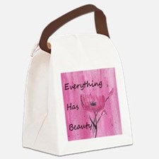 Everything has beauty Canvas Lunch Bag