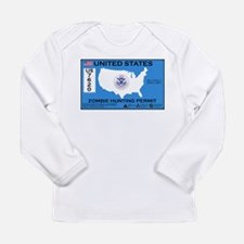 Zombie Hunting Permit Long Sleeve Infant T-Shirt