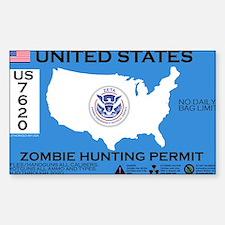 Zombie Hunting Permit Bumper Stickers
