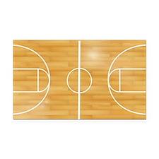 Basketball Court Rectangle Car Magnet