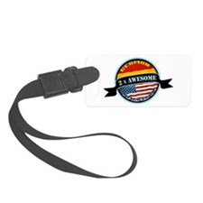 German American 2x Awesome Luggage Tag