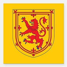 "Scotland Emblem Square Car Magnet 3"" x 3"""