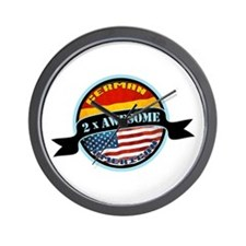 German American 2x Awesome Wall Clock
