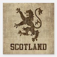 """Vintage Scotland Square Car Magnet 3"""" x 3"""""""
