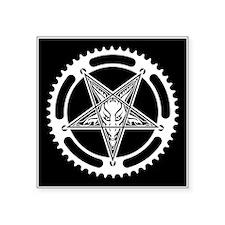 Pentagram Chainring Square Sticker