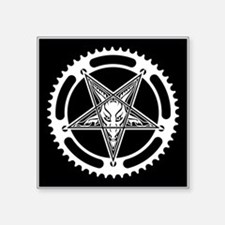 Pentagram Chainring Square Sticker