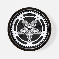 Speed Metal Cycling Pentagram Chainring Wall Clock