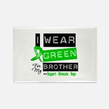 I Wear Green For My Brother Rectangle Magnet