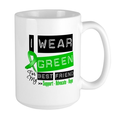 Green Ribbon Best Friend Large Mug