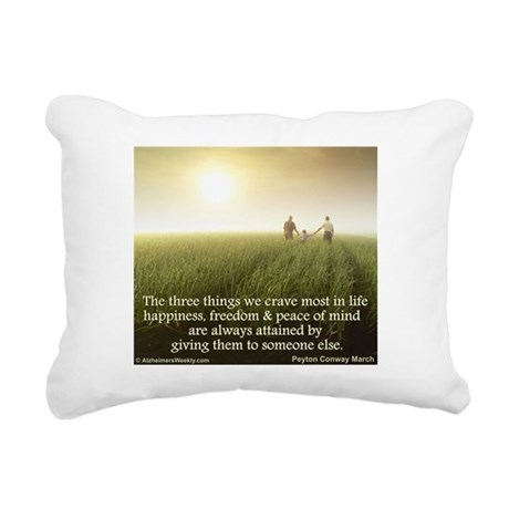 'Giving' Rectangular Canvas Pillow