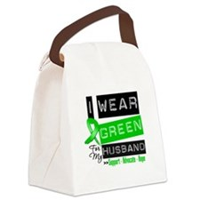 Green Ribbon Husband Canvas Lunch Bag