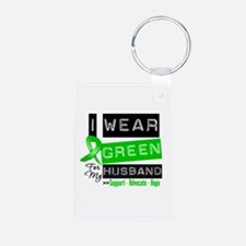 Green Ribbon Husband Keychains