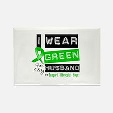 Green Ribbon Husband Rectangle Magnet