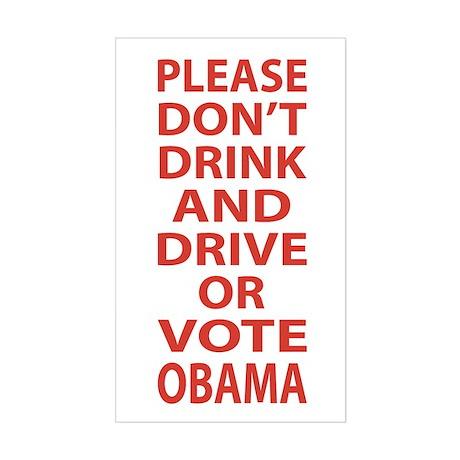 Dont Vote Obama - 2012 Election Sticker (Rectangle