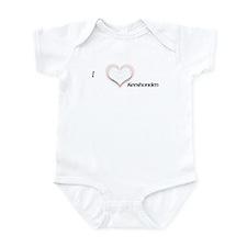 I heart Keeshonden Infant Creeper