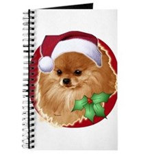 Pomeranian head dog art Journal