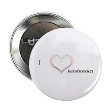 I heart Keeshonden Button