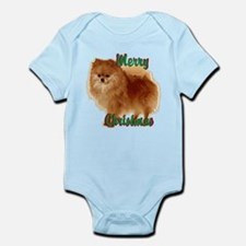 Pomeranian head dog art Infant Bodysuit