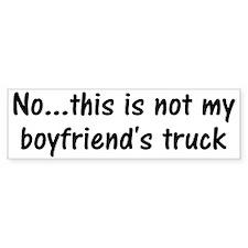 Not My Boyfriend's Truck Bumper Bumper Sticker
