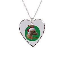 Christmas Min Pin head dog art Necklace