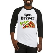 Taxi Driver Funny Pizza Baseball Jersey