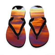 Fire in the sky Flip Flops