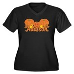 Halloween Pumpkin Addison Women's Plus Size V-Neck