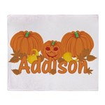 Halloween Pumpkin Addison Throw Blanket