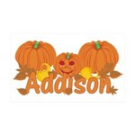 Halloween Pumpkin Addison 35x21 Wall Decal