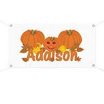 Halloween Pumpkin Addison Banner