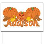 Halloween Pumpkin Addison Yard Sign