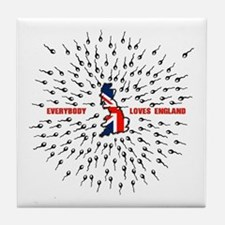 Everybody loves london Tile Coaster