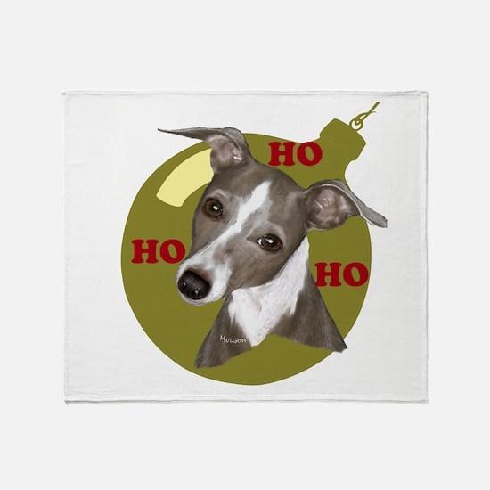 Holiday Min Pin Throw Blanket