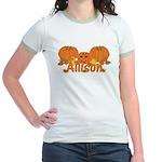 Halloween Pumpkin Allison Jr. Ringer T-Shirt
