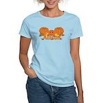 Halloween Pumpkin Allison Women's Light T-Shirt