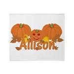 Halloween Pumpkin Allison Throw Blanket
