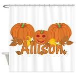Halloween Pumpkin Allison Shower Curtain