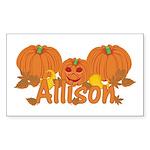 Halloween Pumpkin Allison Sticker (Rectangle)