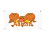 Halloween Pumpkin Allison Banner