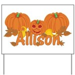 Halloween Pumpkin Allison Yard Sign