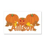 Halloween Pumpkin Allison Car Magnet 20 x 12